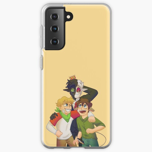 Dream SMP Tommy, Tubbo, and Ranboo Samsung Galaxy Soft Case RB2805 product Offical Ranboo Merch