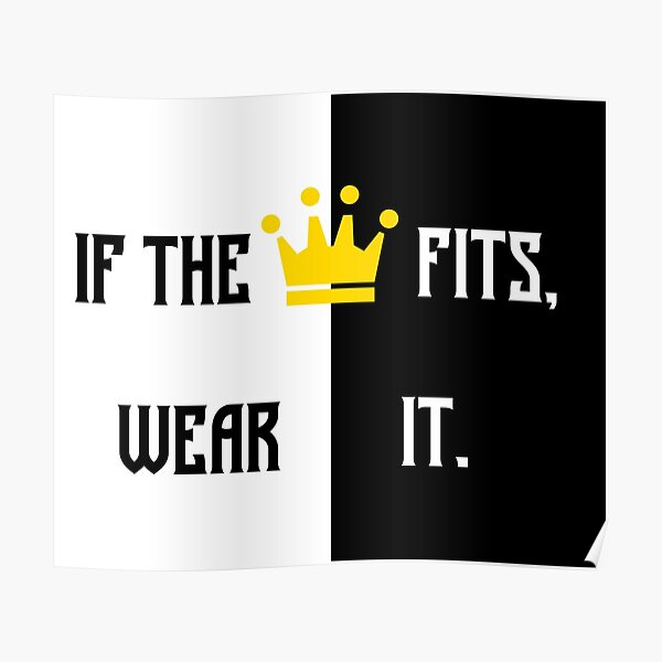 Ranboo Minecraft - If the crown fits 2 Poster RB2805 product Offical Ranboo Merch