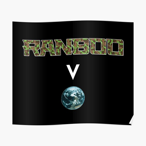 Ranboo above the world - Minecraft Poster RB2805 product Offical Ranboo Merch
