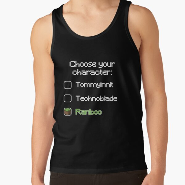 Choose your character - Ranboo (2) Tank Top RB2805 product Offical Ranboo Merch