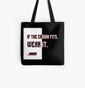 Ranboo Minecraft - If the crown fits 4 All Over Print Tote Bag RB2805 product Offical Ranboo Merch