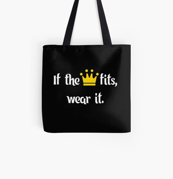 Ranboo Minecraft - If the crown fits 1 All Over Print Tote Bag RB2805 product Offical Ranboo Merch