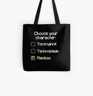 Choose your character - Ranboo (2) All Over Print Tote Bag RB2805 product Offical Ranboo Merch