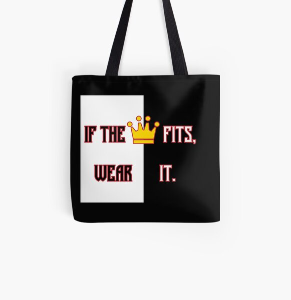 Ranboo Minecraft - If the crown fits 3 All Over Print Tote Bag RB2805 product Offical Ranboo Merch