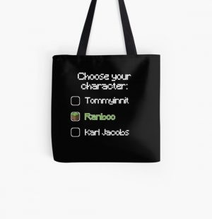 Choose your character - Ranboo All Over Print Tote Bag RB2805 product Offical Ranboo Merch
