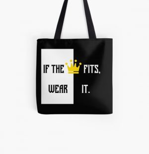 Ranboo Minecraft - If the crown fits 2 All Over Print Tote Bag RB2805 product Offical Ranboo Merch
