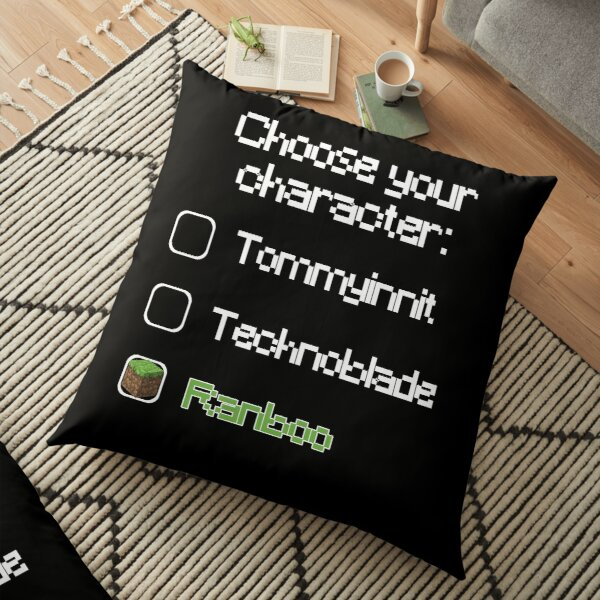 Choose your character - Ranboo (2) Floor Pillow RB2805 product Offical Ranboo Merch