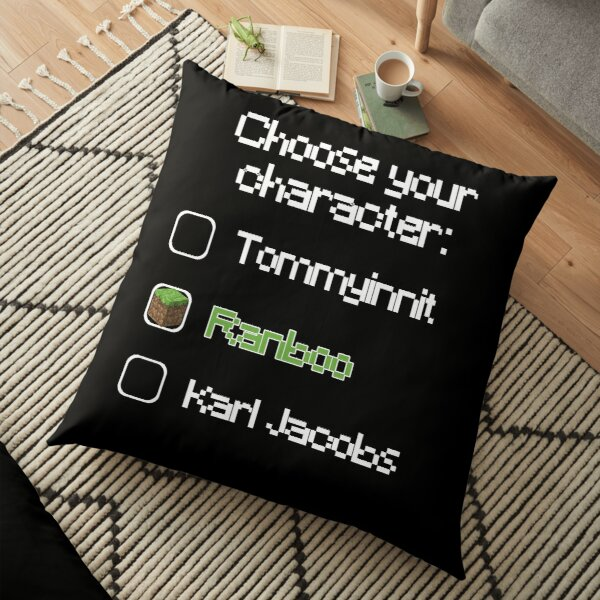 Choose your character - Ranboo Floor Pillow RB2805 product Offical Ranboo Merch