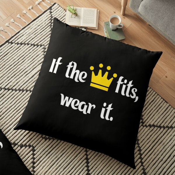 Ranboo Minecraft - If the crown fits 1 Floor Pillow RB2805 product Offical Ranboo Merch