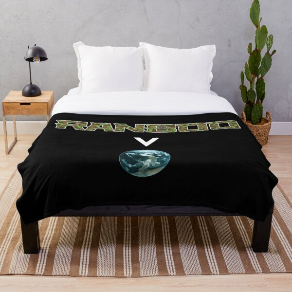 Ranboo above the world - Minecraft Throw Blanket RB2805 product Offical Ranboo Merch