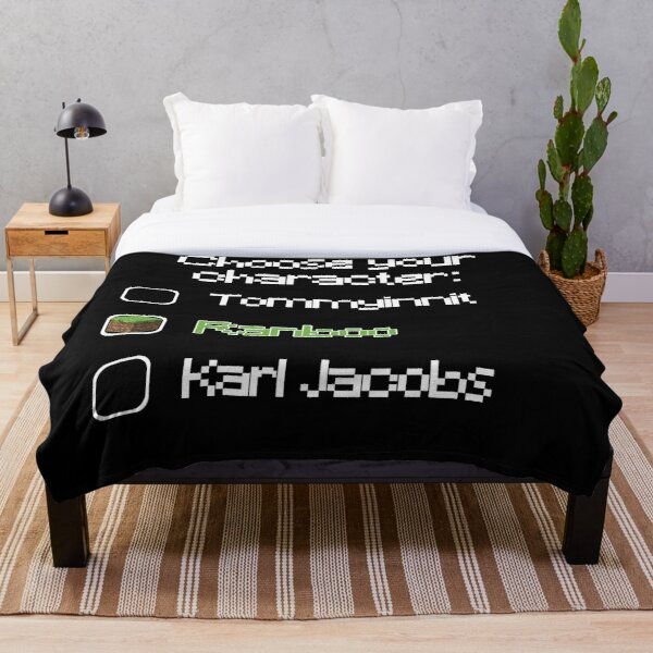 Choose your character - Ranboo Throw Blanket RB2805 product Offical Ranboo Merch
