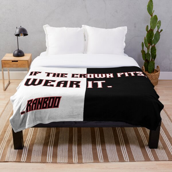 Ranboo Minecraft - If the crown fits 4 Throw Blanket RB2805 product Offical Ranboo Merch