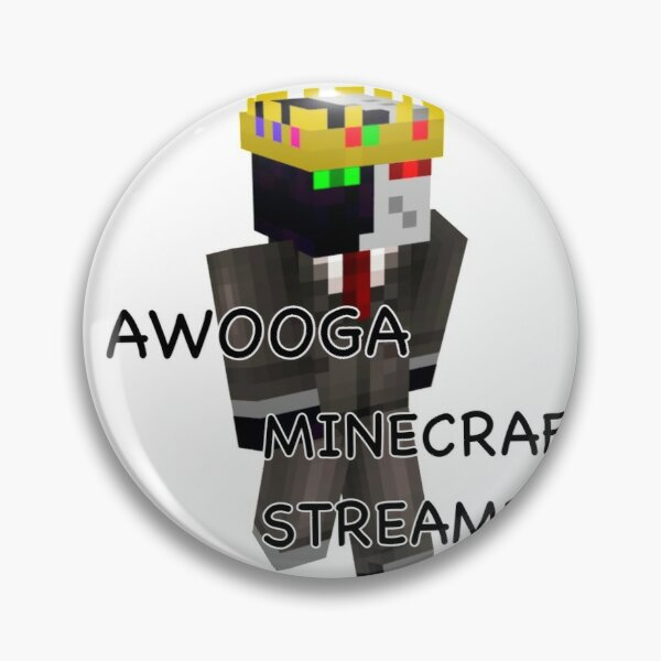 Awooga Minecraft streamers (ranboo) Pin RB2805 product Offical Ranboo Merch