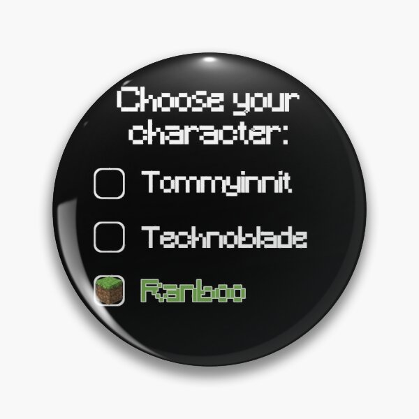 Choose your character - Ranboo (2) Pin RB2805 product Offical Ranboo Merch
